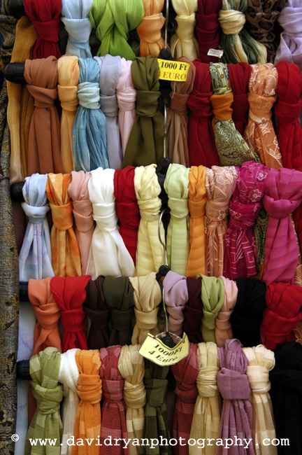silk scarves, budapest, hungary