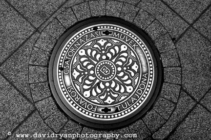 manhole cover, budapest, hungary