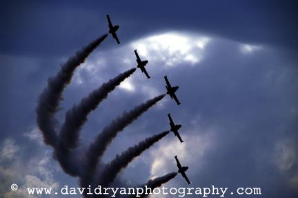 Breitling jet team, budapest, hungary