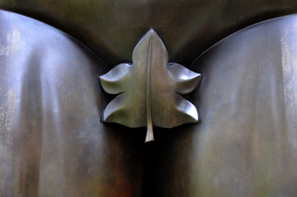"Decorum (detail of ""Male Torso, by  Colombian sculptor Fernando Boltero"