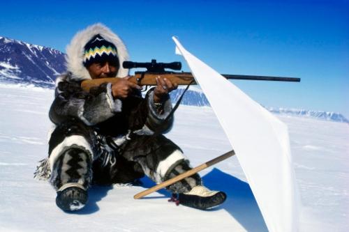 Eskimo hunting in Canada